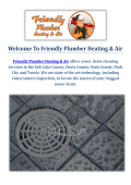 Drain Cleaning Service in Salt Lake City  : Friendly Plumber Heating & Air