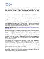 EMV Cards Market Share, Size, Analysis and Forecasts 2016-2020