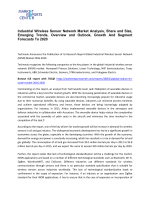 Industrial Wireless Sensor Network Market Share, Size, Analysis and Forecasts 2016-2020