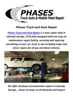 Diesel Truck Repair in Colorado Springs, CO By Phases Truck and Auto Repair