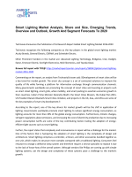 Smart Lighting Market Trends, Size, Analysis and Forecast To 2020