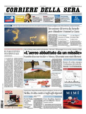 Corriere della sera - 18.07.2014