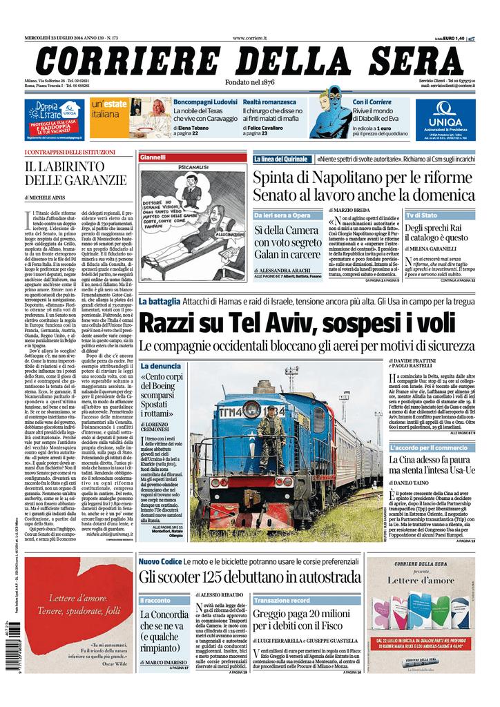 Corriere della sera 23.07.2014