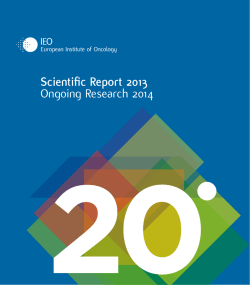 Scientific Report - Istituto Europeo di Oncologia