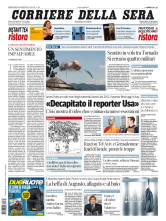 Corriere della sera - 20.08.2014