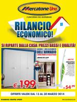 MERCATONE UNO Rilancio Economico dal 13/03