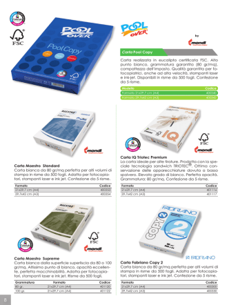 Catalogo carta - 2M Sistemi srl