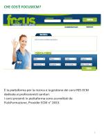Presentazione standard di PowerPoint - FoCuSECM