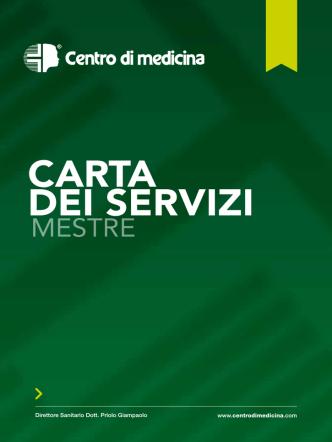 CARTA DEI SERVIZI - CENTRO DI MEDICINA