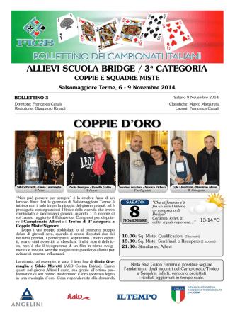 Bollettino n°3 - Federazione Italiana Gioco Bridge