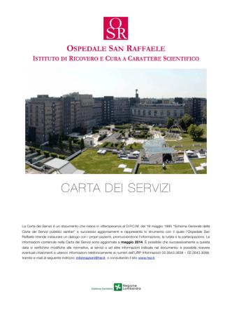 CARTA DEI SERVIZI - Ospedale San Raffaele