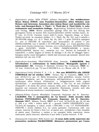 Catalogo 483 - 17 Marzo 2014 - Libreria Antiquaria Le Colonne