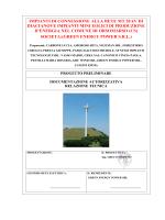 IMPIANTI DI CONNESSIONE ALLA RETE MT 20 kV DI