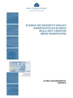 Elenco dei soggetti vigilati significativi ed elenco degli enti creditizi
