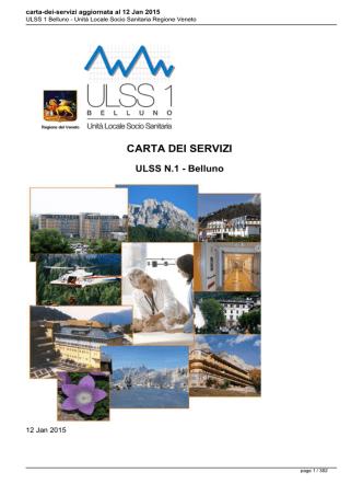 carta-dei-servizi aggiornata al 12 Jan 2015