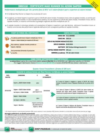 2002118 - certificate maxi runner su azioni saipem