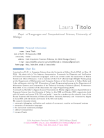 Laura Titolo – Dept. of Languages and Computational Science