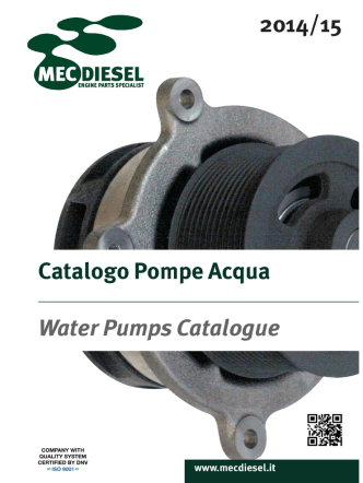 2014 / 15 Catalogo Pompe Acqua Water Pump - Mec