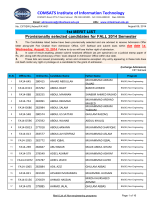 1st Merit List _ Fall 2014 _ BSCS - COMSATS Institute of Information