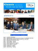 KNEWS N° 4 7° anno - Archivio Kiwanis Distretto Italia