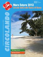 CIRCOLANDO - Mare Estero 2013 - Circolo UniCredit Banca di Roma