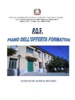 """POF 2012-13 - Istituto Comprensivo """"Ugo Foscolo"""" Bagnara"""