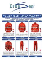 Listino Prezzi Uniforme Unica (Croce Rossa Italiana)