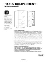 PAX sistema componibile con porte scorrevoli
