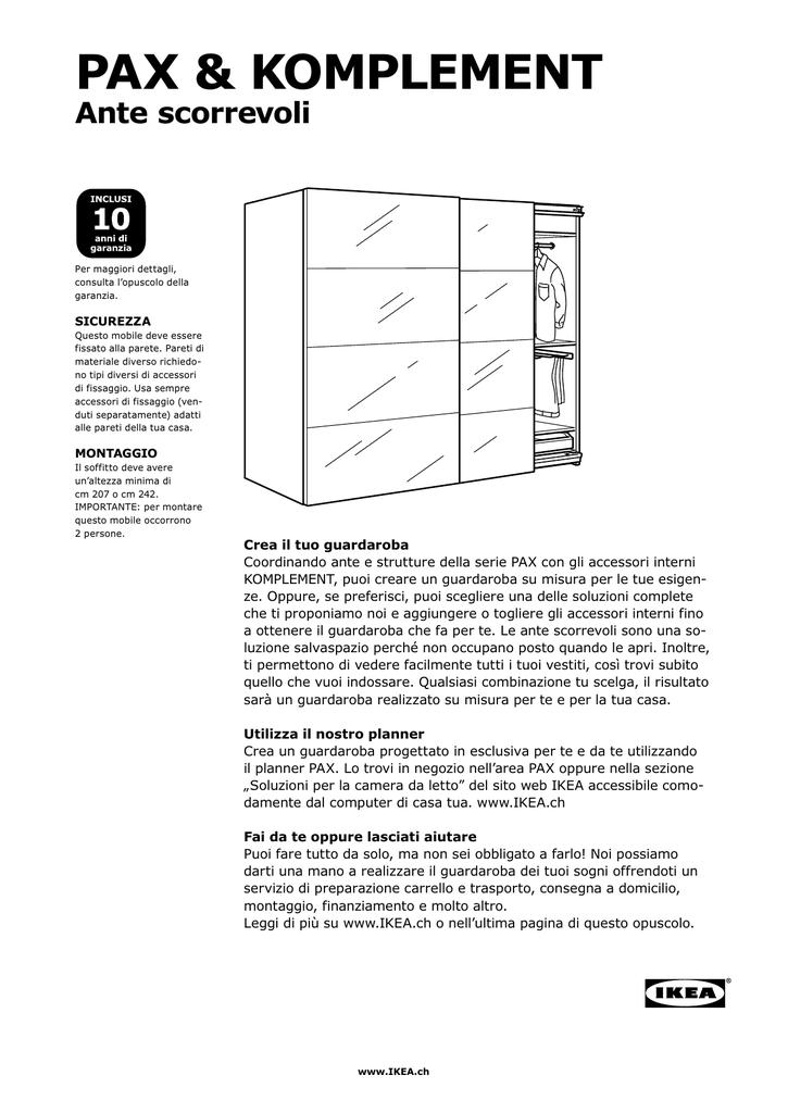 Binari Per Ante Scorrevoli Ikea.Pax Sistema Componibile Con Porte Scorrevoli