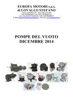 pompe del vuoto - Europa Motori