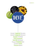 Estratti Vegetali Glicolici Estratti Vegetali Glicerici Acque Distillate