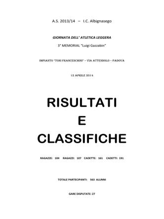 A.L. 13-14 - ic albignasego