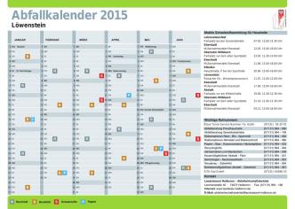 Abfallkalender 2015 Löwenstein