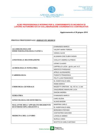 AGG ALBO GIUGNO 2014 da pubbl - Azienda Ospedaliera Carlo