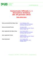 Comunicato n. 1 - PGS Provinciale Roma