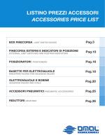 listino prezzi accessori accessories price list box