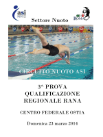 Settore Nuoto CIRCUITO NUOTO ASI 3^ PROVA
