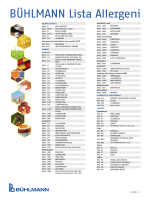 BÜHLMANN Lista Allergeni - BÜHLMANN Laboratories AG