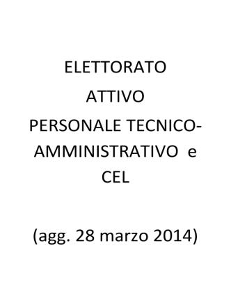 AMMINISTRATIVO e CEL (agg. 28 marzo 2014)