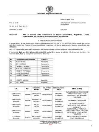 Commissioni del 11.04.2014 AM e PM