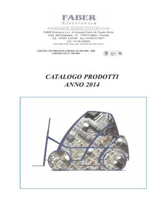 CATALOGO PRODOTTI ANNO 2014