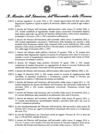 D.M. 487/2014 - Gilda degli Insegnanti di Sassari