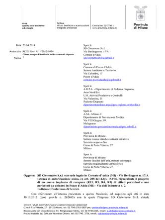 Carta intestata Settore Rifiuti-Bonifiche-AIA