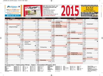 2015 Tafelkalender A4 zum Download - Niegl