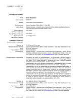 C.V. - Azienda Ospedaliera Mellino Mellini