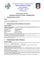 stagione sportiva 2014/2015 comunicato ufficiale n°35del
