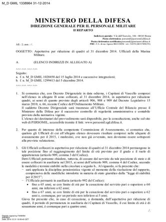 ARQ 2014 - M.M. - Ministero della Difesa