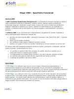 Vtiger CRM – Specifiche Funzionali