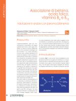 Ruolo della Betaina e delle vitamine del gruppo