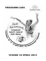 Programma venerdì 10-04-15